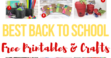 The BEST Back to School Crafts and Free Printables Creatively Beth #creativelybeth #bestbacktoschoolcrafts #bestbacktoschoolprintables #backtoschool #freeprintable