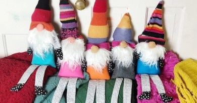 Easy Upcycled Sweater Gnome with Poly-Fil by Creatively Beth #creativelybeth #polyfil #easysewing #gnomes #gnome #gnomecraft