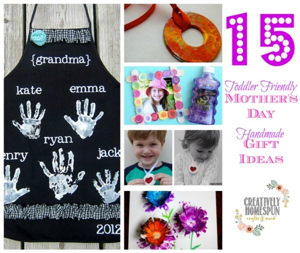 15 Toddler Friendly Mother's Day Handmade Gift Ideas