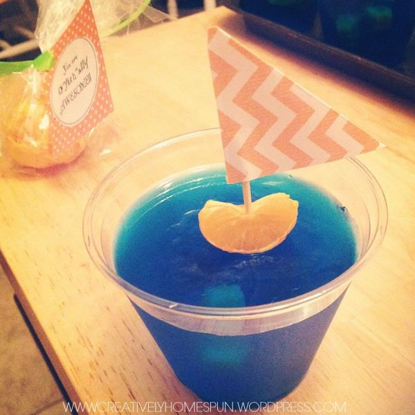 You're O'fish'Ally Awesome!! Orange and Jello Sailboat School Snack #jello #school #snack