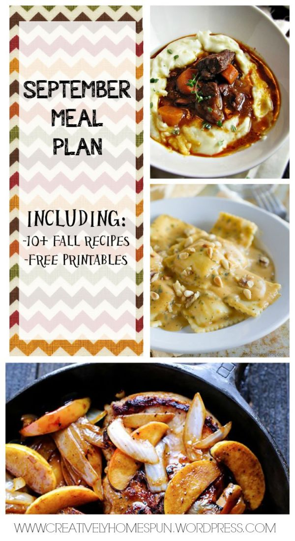 SEPTEMBER MEAL PLAN: INCLUDING 10+ FALL RECIPES AND FREE PRINTABLES!!!