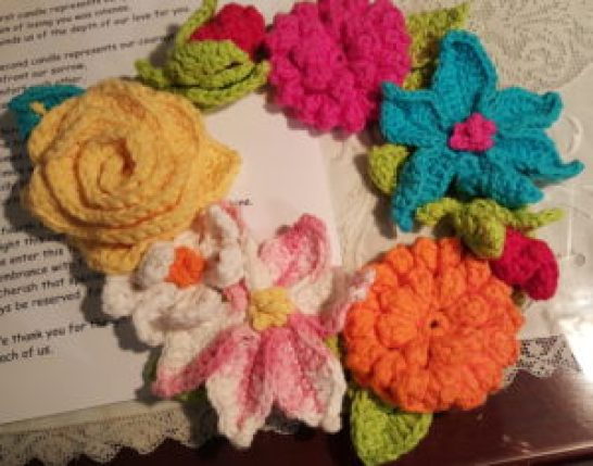 Crocheted Floral Wreath