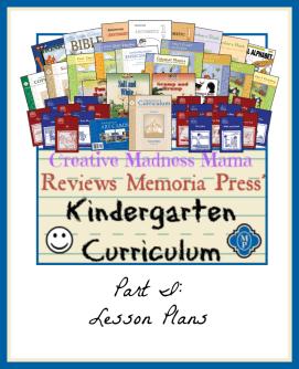 Memoria Press Kindergarten Review Lesson Plans
