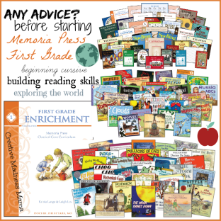 Memoria Press First Grade Advice
