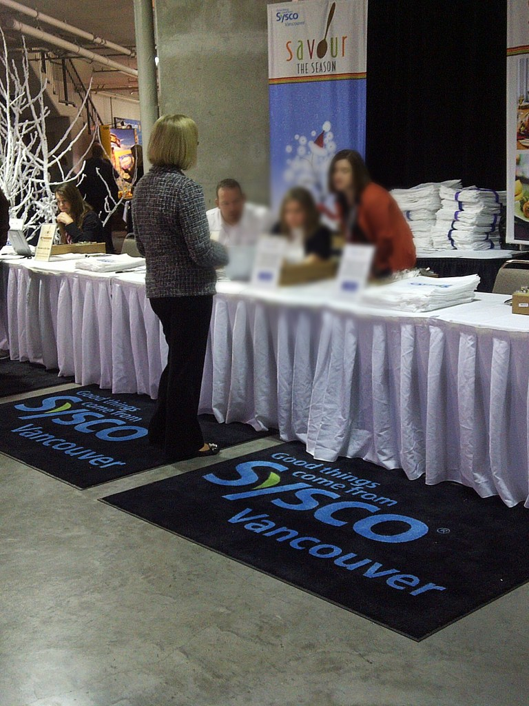Having custom print logo mats on your show certainly help create brand awareness