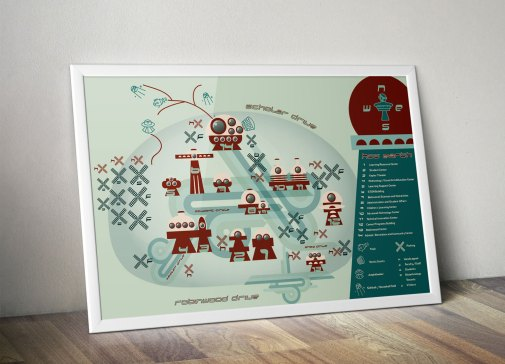 hagerstown-community-college-campus-map-redesign-framed