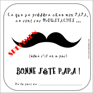 carte fête des papas moustache