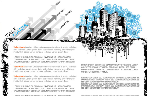 Urban layout perfect for webdesign company