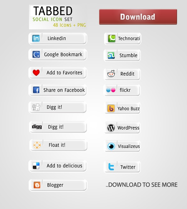 tabbed-soicial-icon-set