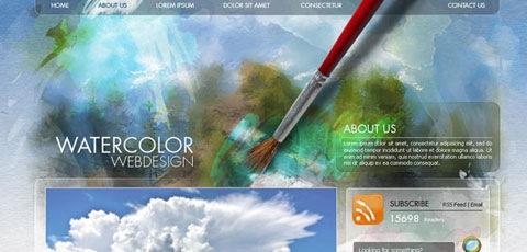 water-color-site-design