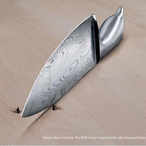 knife 100 Most Funny and Creative Advertisement Designs