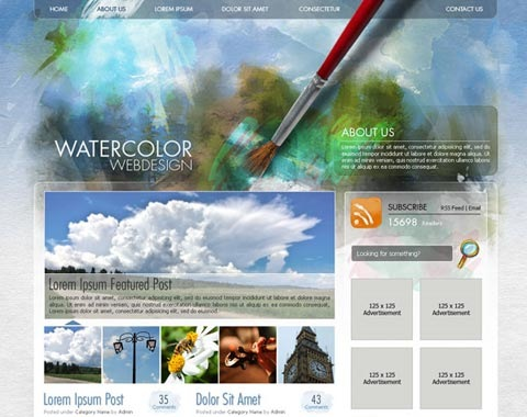 water-color-webdesign