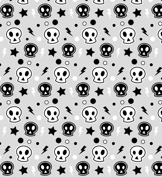 funky-skull-pattern