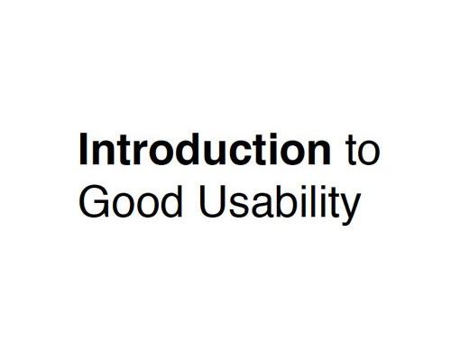 introduction-to-good-usabilty
