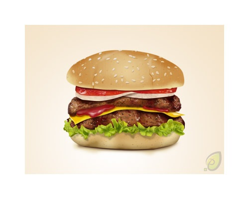 hamburgericonpsdfile1 50 Free 3D High Quality PSD File Icons