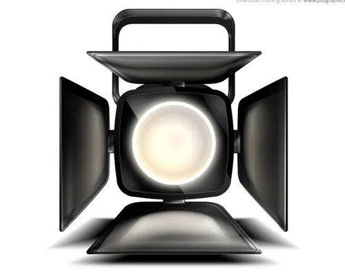 spot-light-icon-psd-file