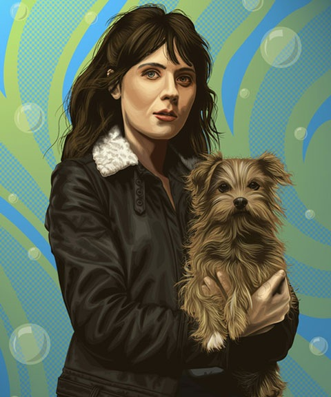 vexel-portait-woman-and-dog