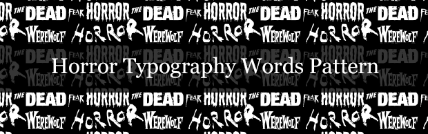 horror-typography-pattern-banner