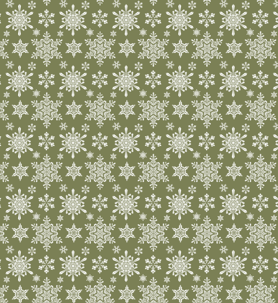 green-snowflake-pattern