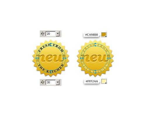 Golden-badge