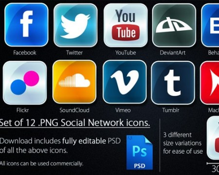 socialnetworkicons 40 Best Free Icon Sets Released 2012