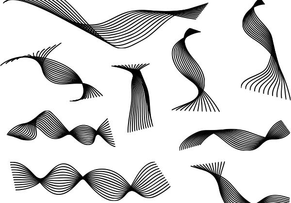 9 Abstract Spiral Freebie Vector Set   Creative Nerds