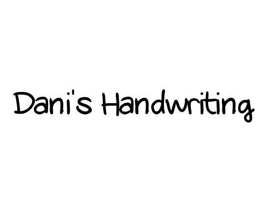 danis-handwritting