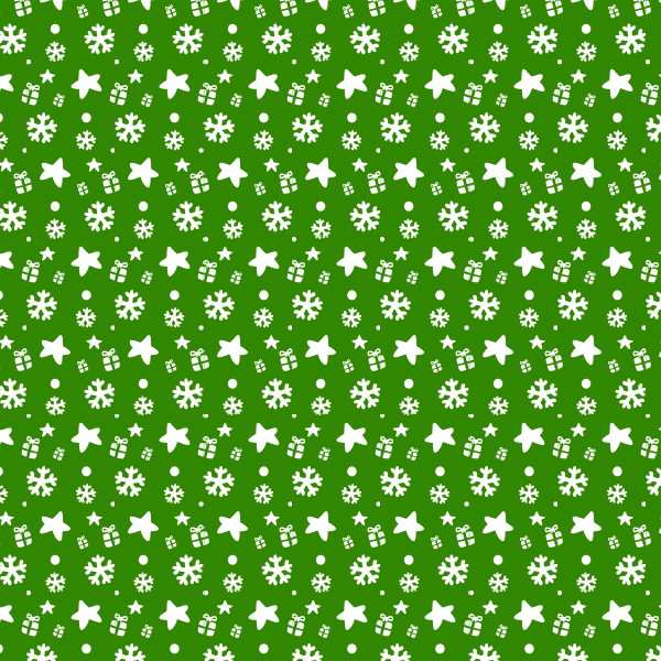 green-presents-and-snowflake-pattern