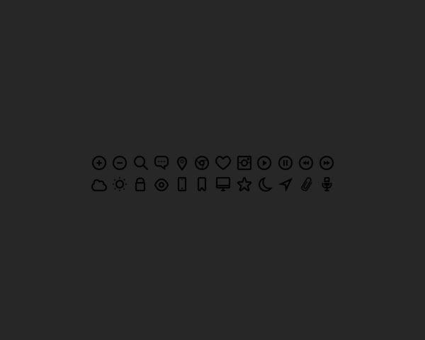 black-icons