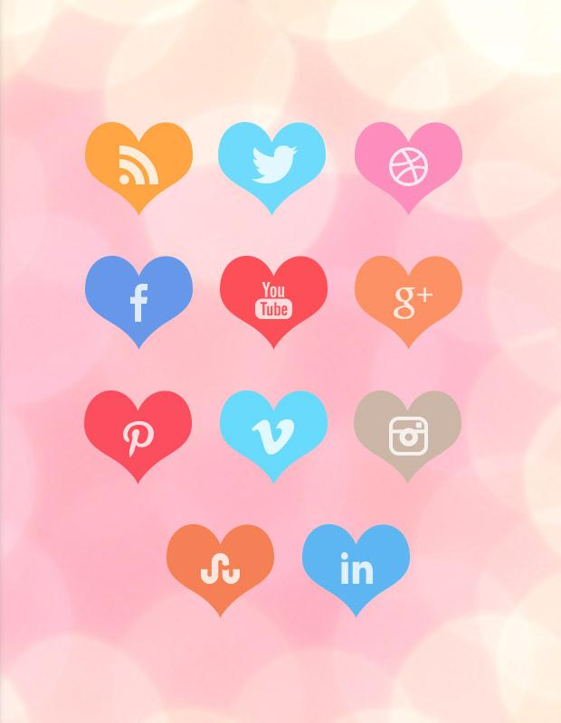 heart-social-icons