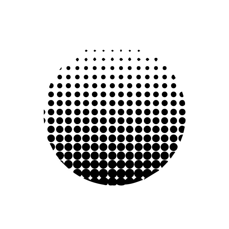 How to create a halftone vector effect using Illustrator