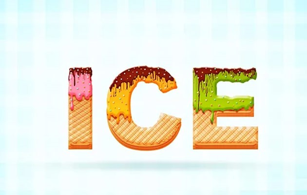 icecream-text-effect