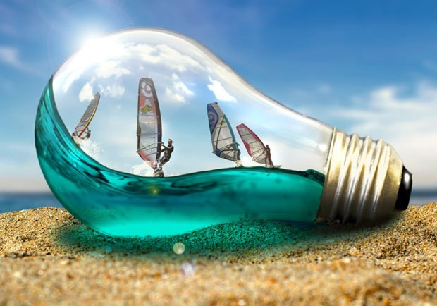 light bulb effect 30 Fresh new Photoshop tutorials from 2016