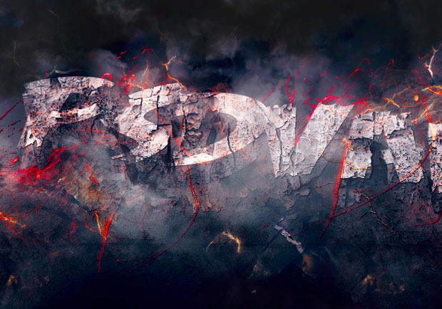 rock text 30 Fresh new Photoshop tutorials from 2016