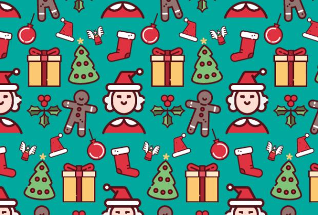 Cute Cartoon Foxes Wallpaper Christmas Cute Fun Free Semaless Vector Pattern Creative