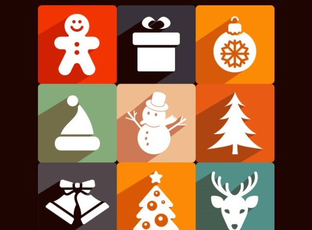 longshadow-christmas-icons