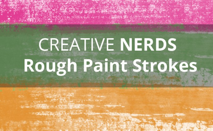Rough paint strokes smudges free Photoshop brushes set
