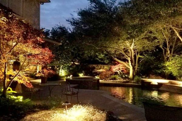 outdoor lighting impact landscaping