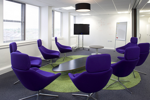 comfy chairs for small spaces royal blue creative & modern office designs around the world | environment