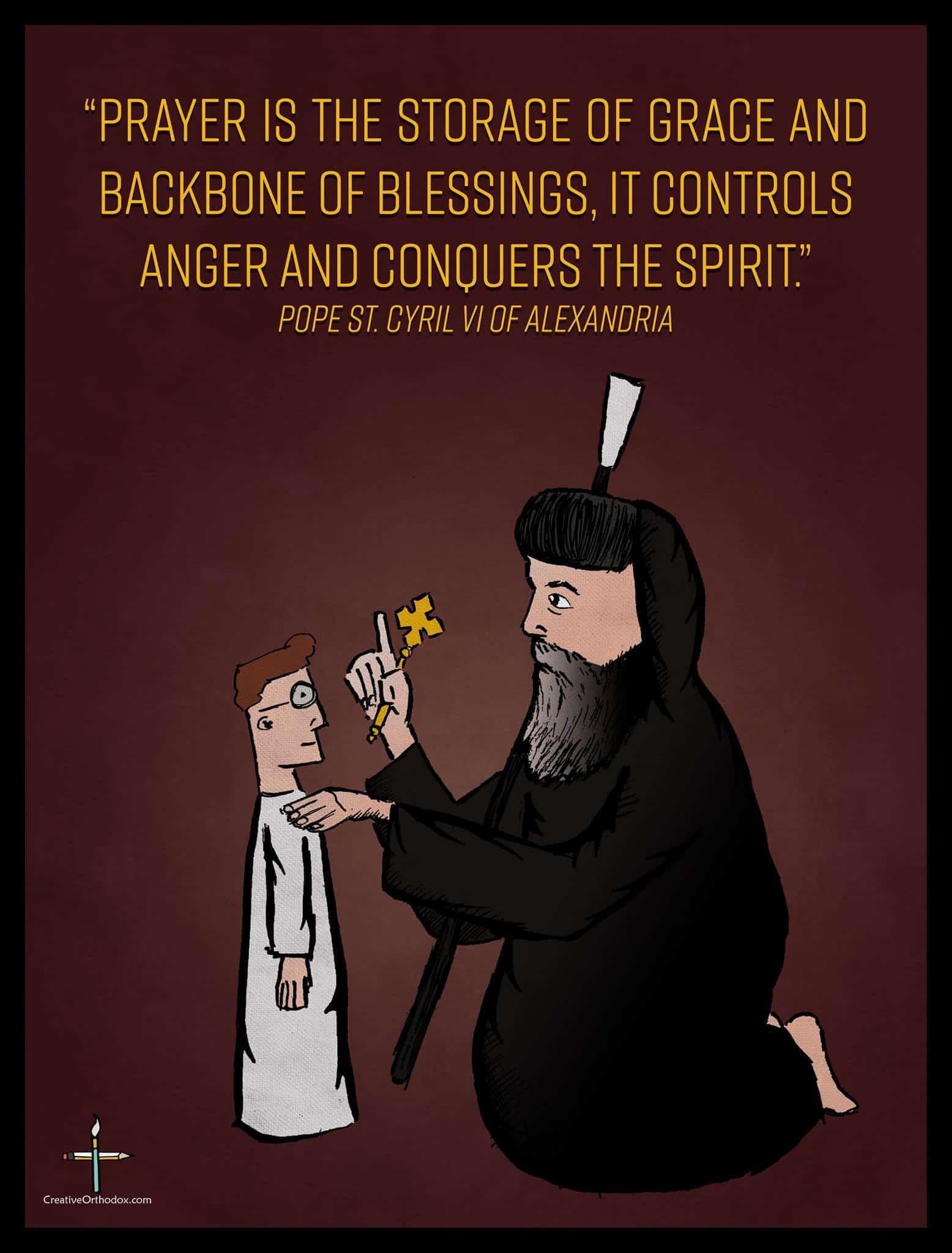 Saint Pope Kyrillos on Prayer
