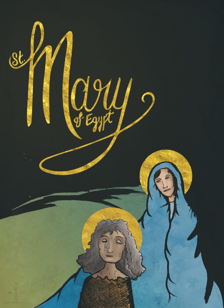 Saint Mary of Egypt & Saint Mary the Theotokos