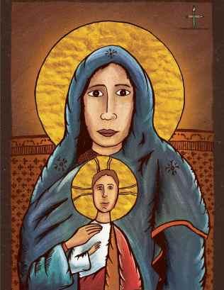 The Theotokos & Christ illustration
