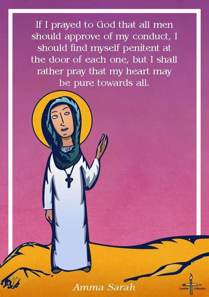 Illustration of the desert mother Amma Sarah