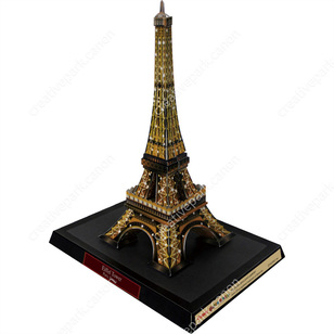Eiffel Tower (Night), France,Architecture,Paper Craft,Interior ,Stylish,Europe,null,null,World Heritage,Brown,null
