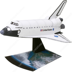 Space Shuttle Orbiter (Simplified Version),Realistic Crafts/Space,Paper Craft,null,null,null,Space Shuttle,Simple,White,null