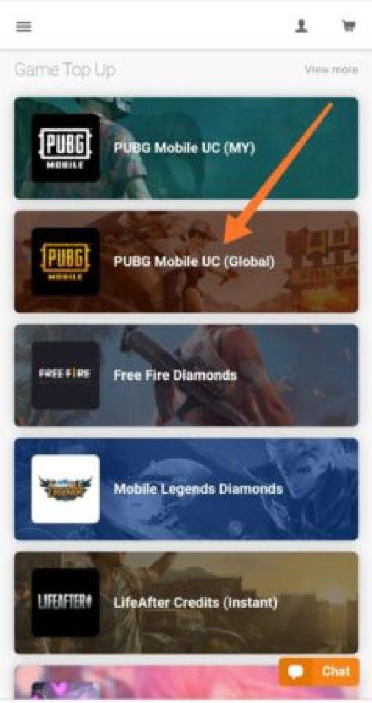 Step 3 seagm Buy Uc pubg mobile