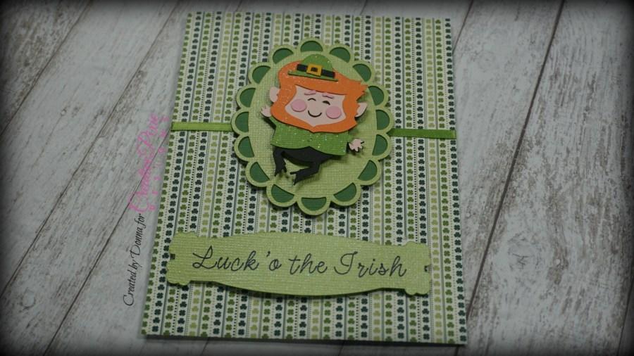 St. Patrick's Day inspired Leprechaun card designed in Cricut DS