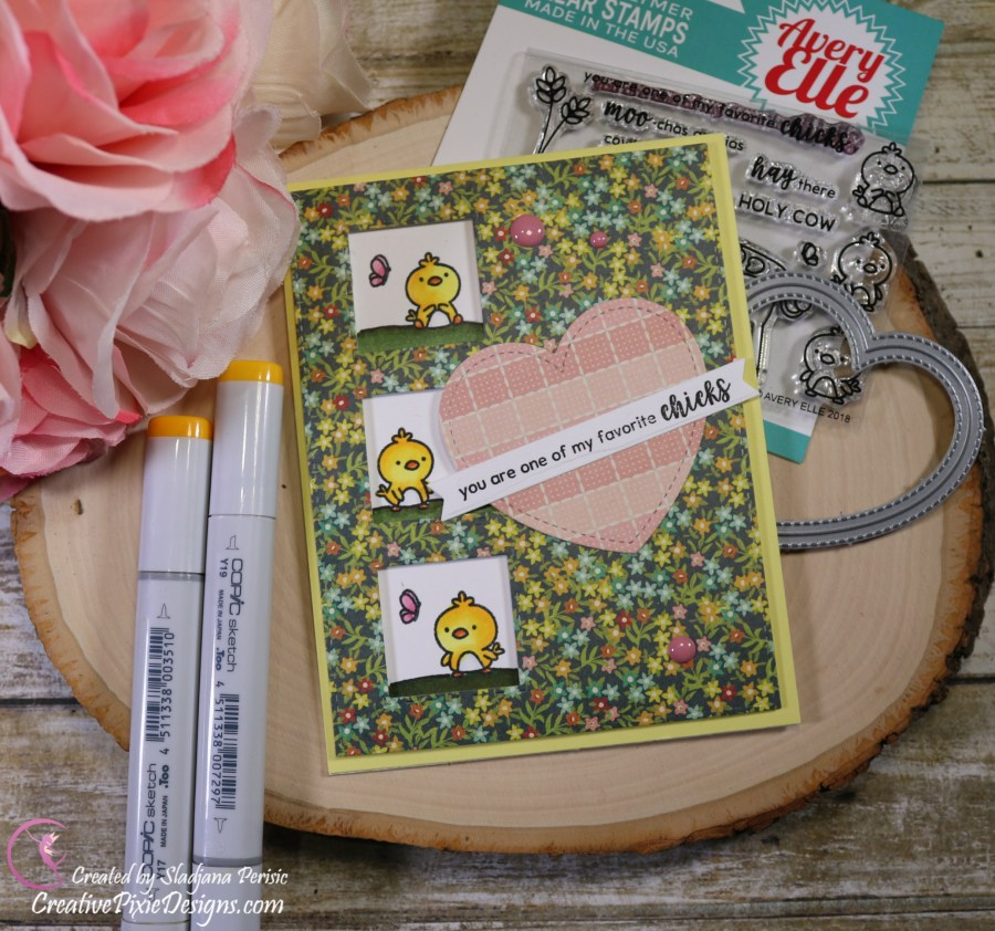 Scrapping For Less May FOTM Card Kit In the Country Side featuring Barnyard by Avery Elle Stamp set and Farm House by American Crafts paper pad.