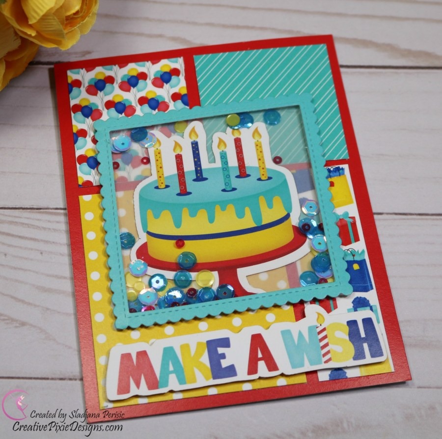 Scrapping For Less March 2019 Flavor of the Month Card Kit Let's Celebrate. Collection two: Happy Birthday Ephemera and Happy Birthday patterned paper by Scrapping For Less.