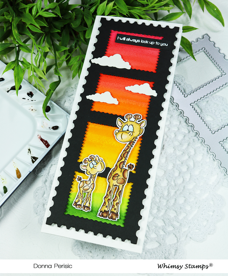 Whimsy Stamps Giraffe Momma and Baby